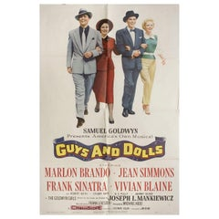 """""""Guys and Dolls"""" 1955 U.S. One Sheet Film Poster"""
