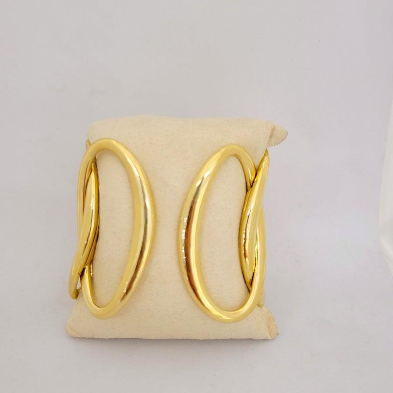 Rose Cut G.Verdi for Cellini 18kt Yellow Gold, 8.27ct, Diamond Wide Cuff Bracelet For Sale