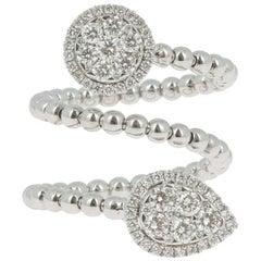 GVS 0.25 Carat Diamond Ring White Gold 18 Karat Cocktail Rings Heritage Jewelry