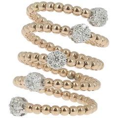 0.62 Carat GVS Diamond Ring 18 K Yellow Gold / Round White Diamond Cocktail Ring