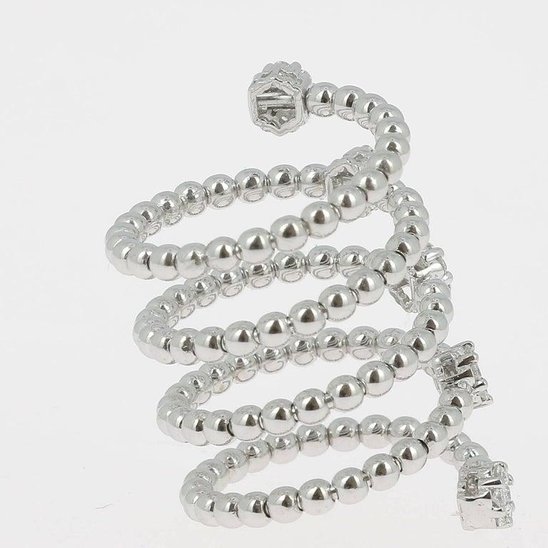 Contemporary 0.62 Carat GVS Diamond Ring 18K Yellow Gold / Round White Diamond Fashion Rings For Sale