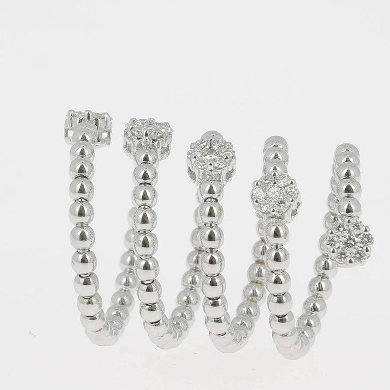 Round Cut 0.62 Carat GVS Diamond Ring 18K Yellow Gold / Round White Diamond Fashion Rings For Sale