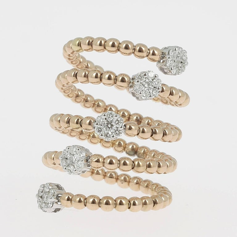 0.62 Carat GVS Diamond Ring 18K Yellow Gold / Round White Diamond Fashion Rings In New Condition For Sale In paris, FR