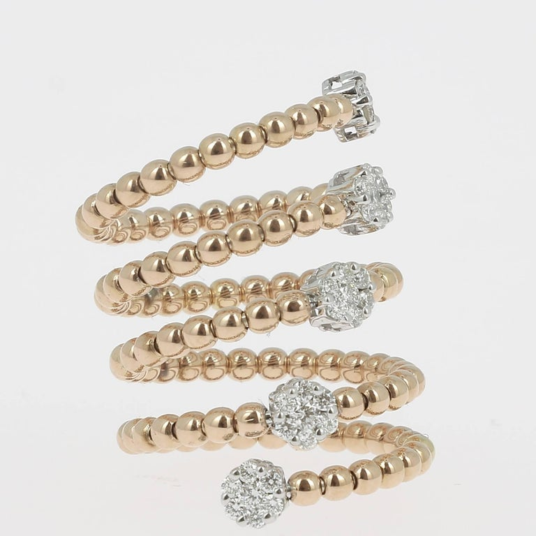 Women's 0.62 Carat GVS Diamond Ring 18K Yellow Gold / Round White Diamond Fashion Rings For Sale