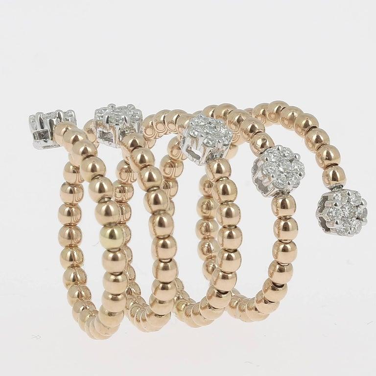 0.62 Carat GVS Diamond Ring 18K Yellow Gold / Round White Diamond Fashion Rings For Sale 1