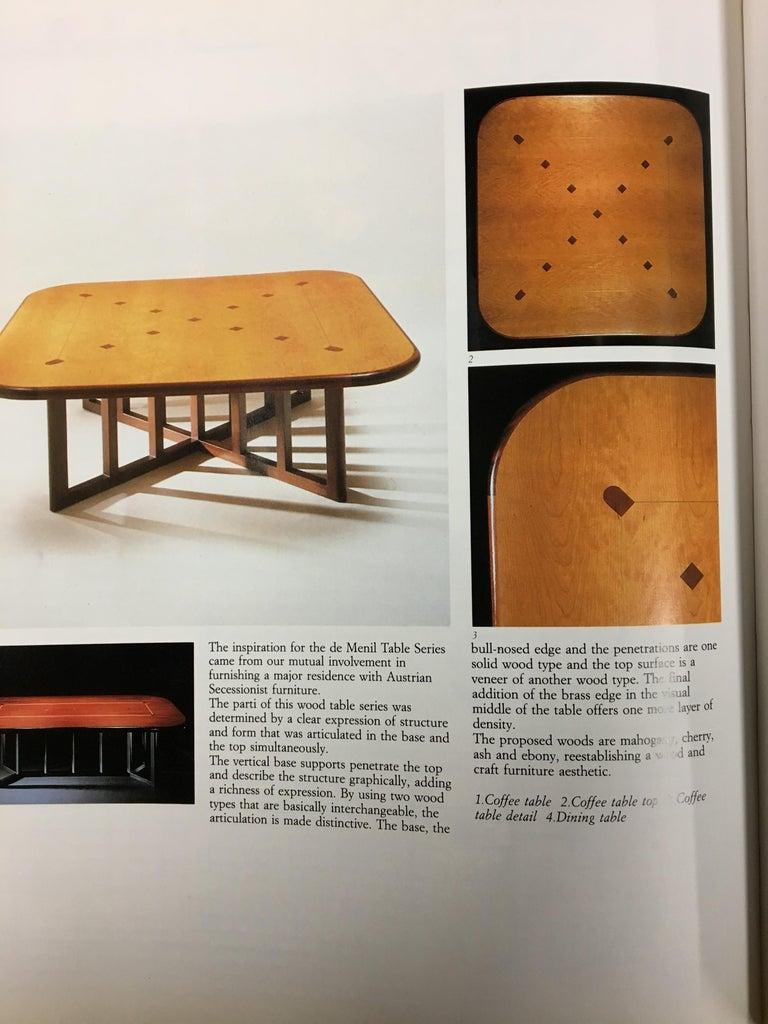 Gwathmey Siegel Commission Cocktail Table For Sale 2