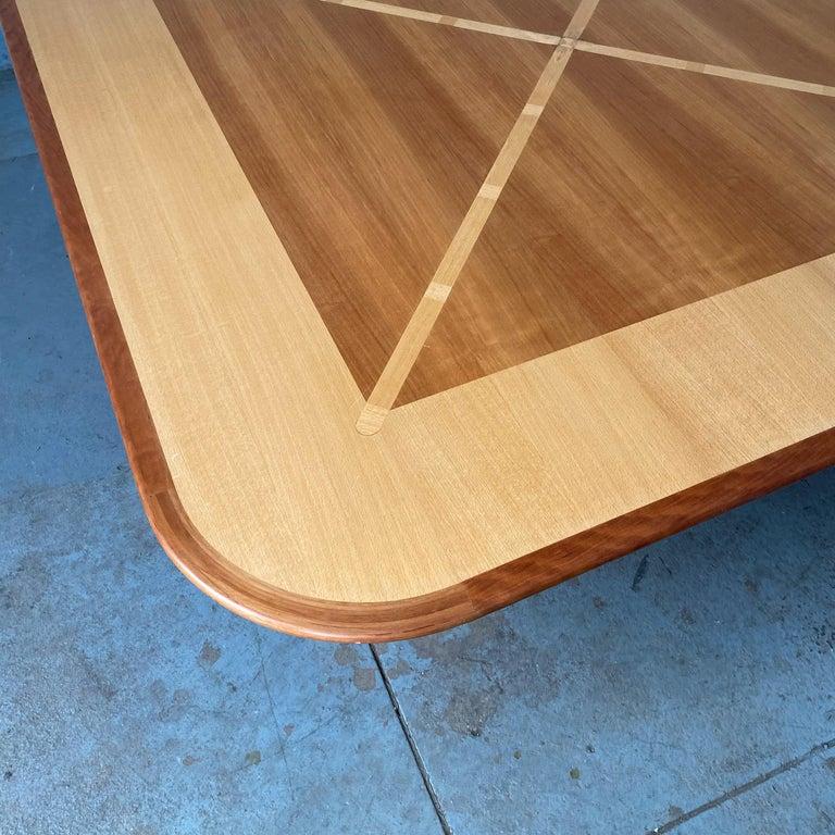 Wood Gwathmey Siegel Commission Cocktail Table For Sale