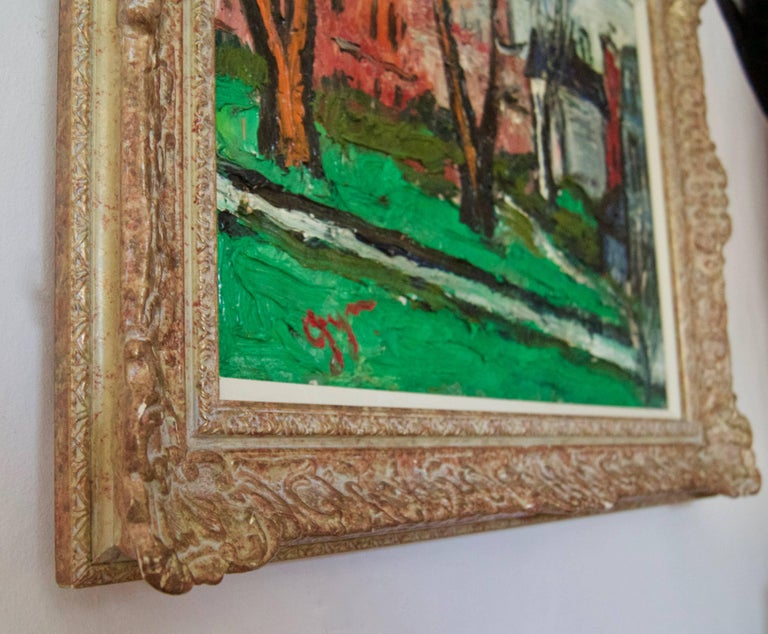 Winters Day in Kensington - Early 20th Century Impressionist Oil by Gwen Collins 3