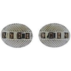Gwennie Tam Armadillo Smokey Topaz Gold Cufflinks