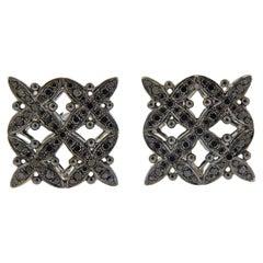Gwennie Tam Xtasy Black Diamond Gold Cufflinks