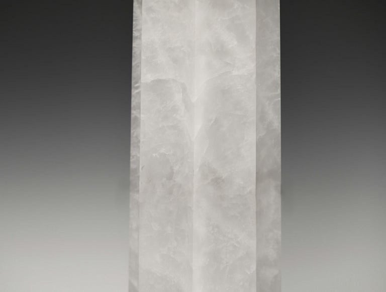 Contemporary GWN Rock Crystal Lamps by Phoenix For Sale