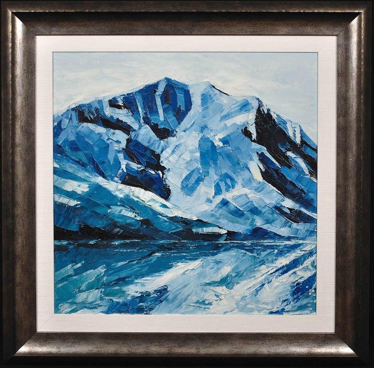 Gwyn Roberts Landscape Painting - Y Garn,Eryri (Snowdonia, Wales). Welsh Artist.Original Oil Painting.Contemporary