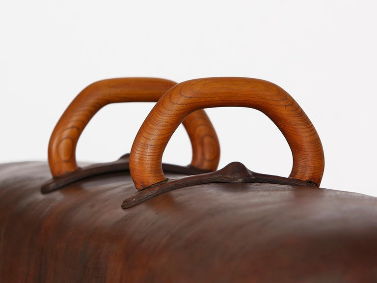 Gymnastic Leather Pommel Horse Bench, 1920s For Sale 3