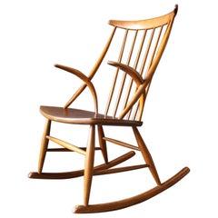 Gyngestol No. 3 Rocking Chair by Illum Wikkelso for Niels Eilersen