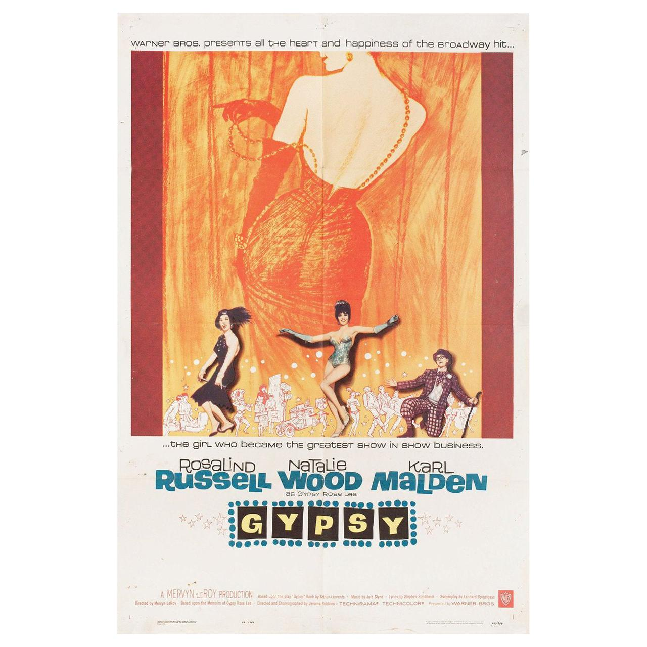 """Gypsy"" 1962 US One Sheet Film Poster"