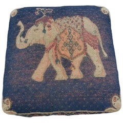 Gypsy Oriental Rug Covered Foot Rest Vintage, 1970s