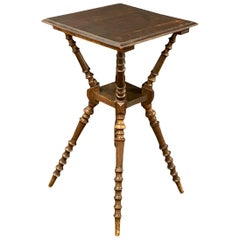 Gypsy Style Wine or Side Table, Antique German, 1910s