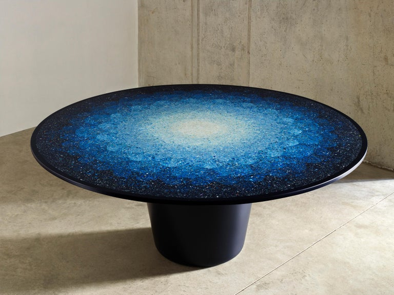 Gyro, Round Mosaic Table in Recycled Ocean Plastic Terrazzo by Brodie Neill 2