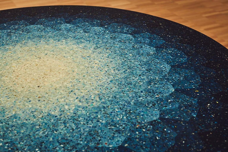Gyro, Round Mosaic Table in Recycled Ocean Plastic Terrazzo by Brodie Neill 5