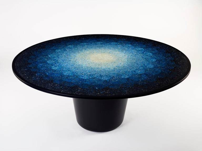 Gyro, Round Mosaic Table in Recycled Ocean Plastic Terrazzo by Brodie Neill 8