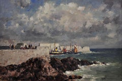 Ness Harbour, Butt of Lewis,Scotland. Original Painting. Landscape.Gyrth Russell