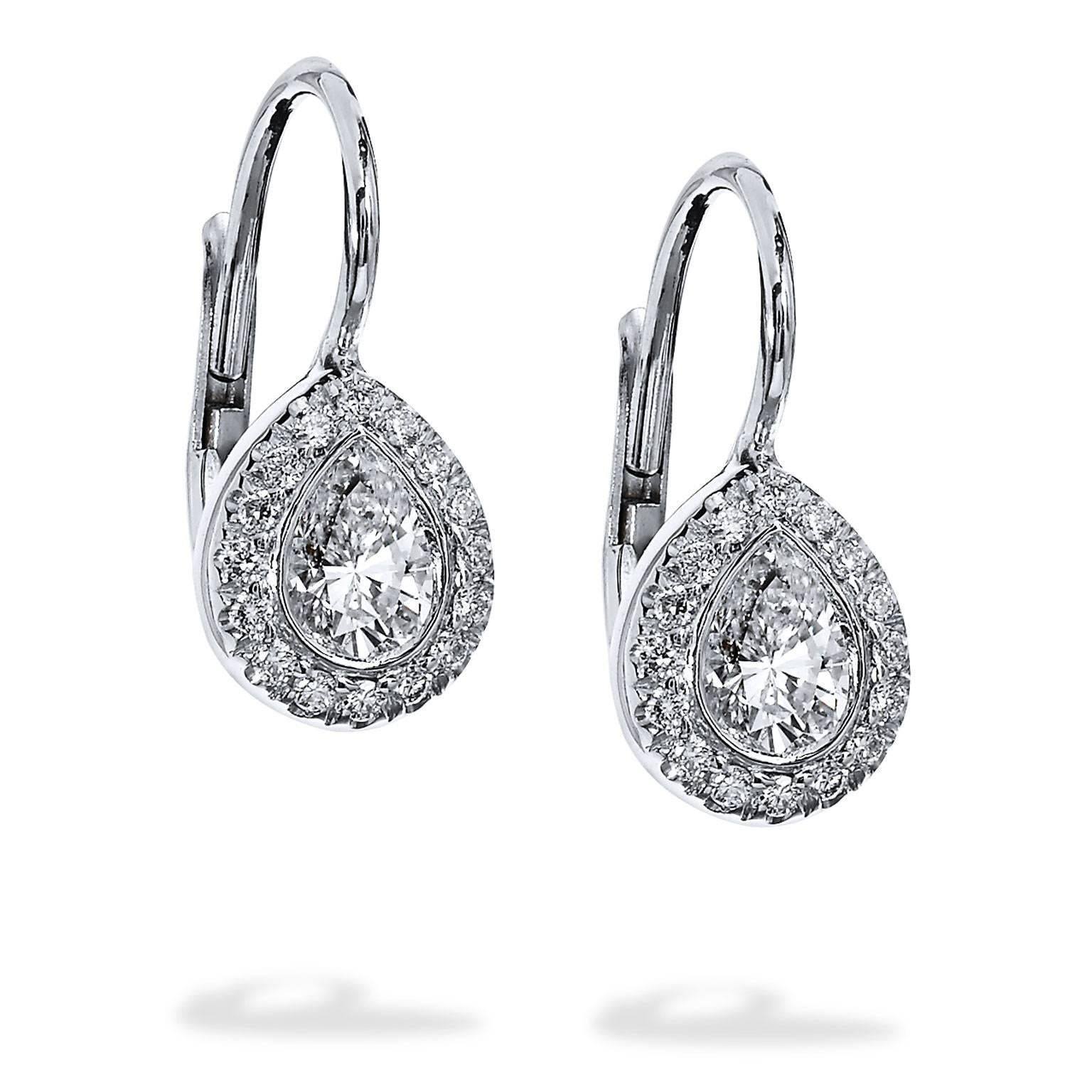 silver c sterling z product earrings classic collette shaped pear diamond