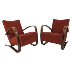 H 269 Lounge Chairs by Jindrich Halabala, 1930s, Set of 2