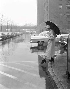 'Woman in a Rain Coat' Silver Gelatin Fibre Print - Oversized