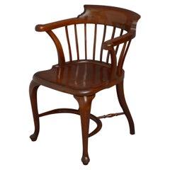 H. Baker Victorian Solid Mahogany Desk Chair