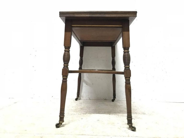 H Batley, Attributed Collinson & Lock, an Anglo-Japanese Fold Over Card Table For Sale 3