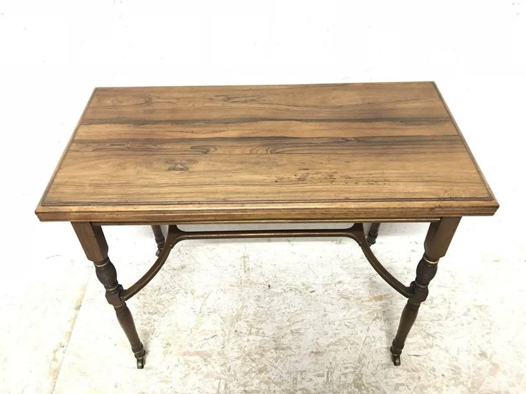 English H Batley, Attributed Collinson & Lock, an Anglo-Japanese Fold Over Card Table For Sale