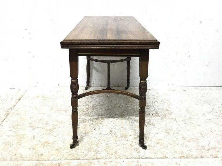Hand-Crafted H Batley, Attributed Collinson & Lock, an Anglo-Japanese Fold Over Card Table For Sale