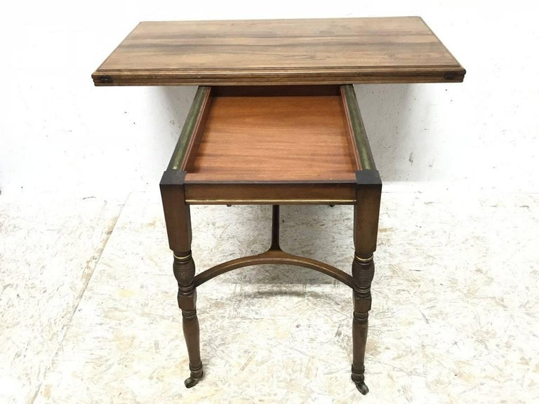 Late 19th Century H Batley, Attributed Collinson & Lock, an Anglo-Japanese Fold Over Card Table For Sale