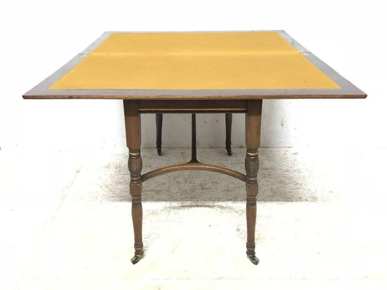 Rosewood H Batley, Attributed Collinson & Lock, an Anglo-Japanese Fold Over Card Table For Sale