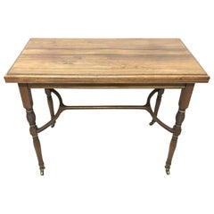 H Batley, Attributed Collinson & Lock, an Anglo-Japanese Fold over Card Table