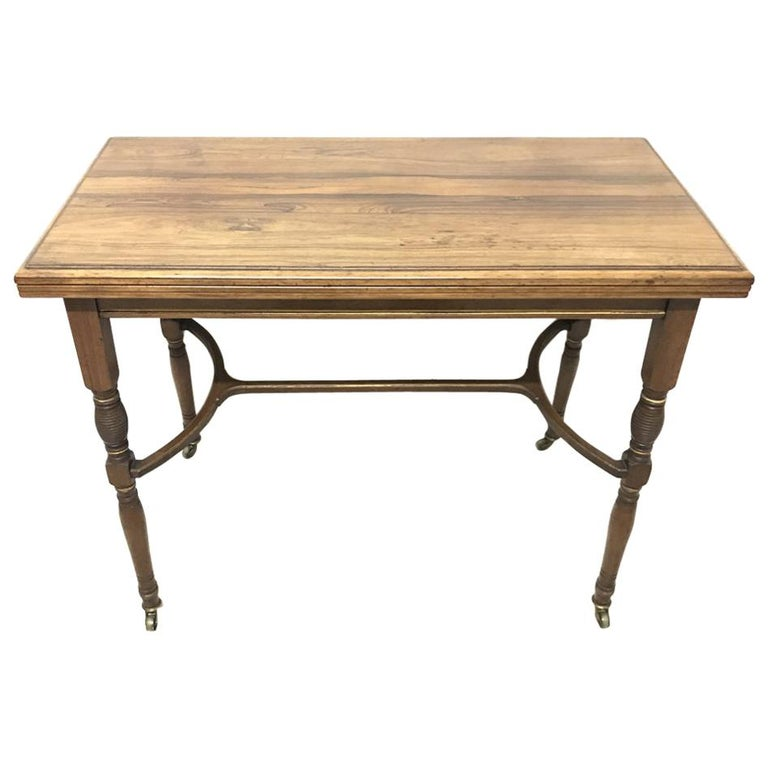 H Batley, Attributed Collinson & Lock, an Anglo-Japanese Fold Over Card Table For Sale