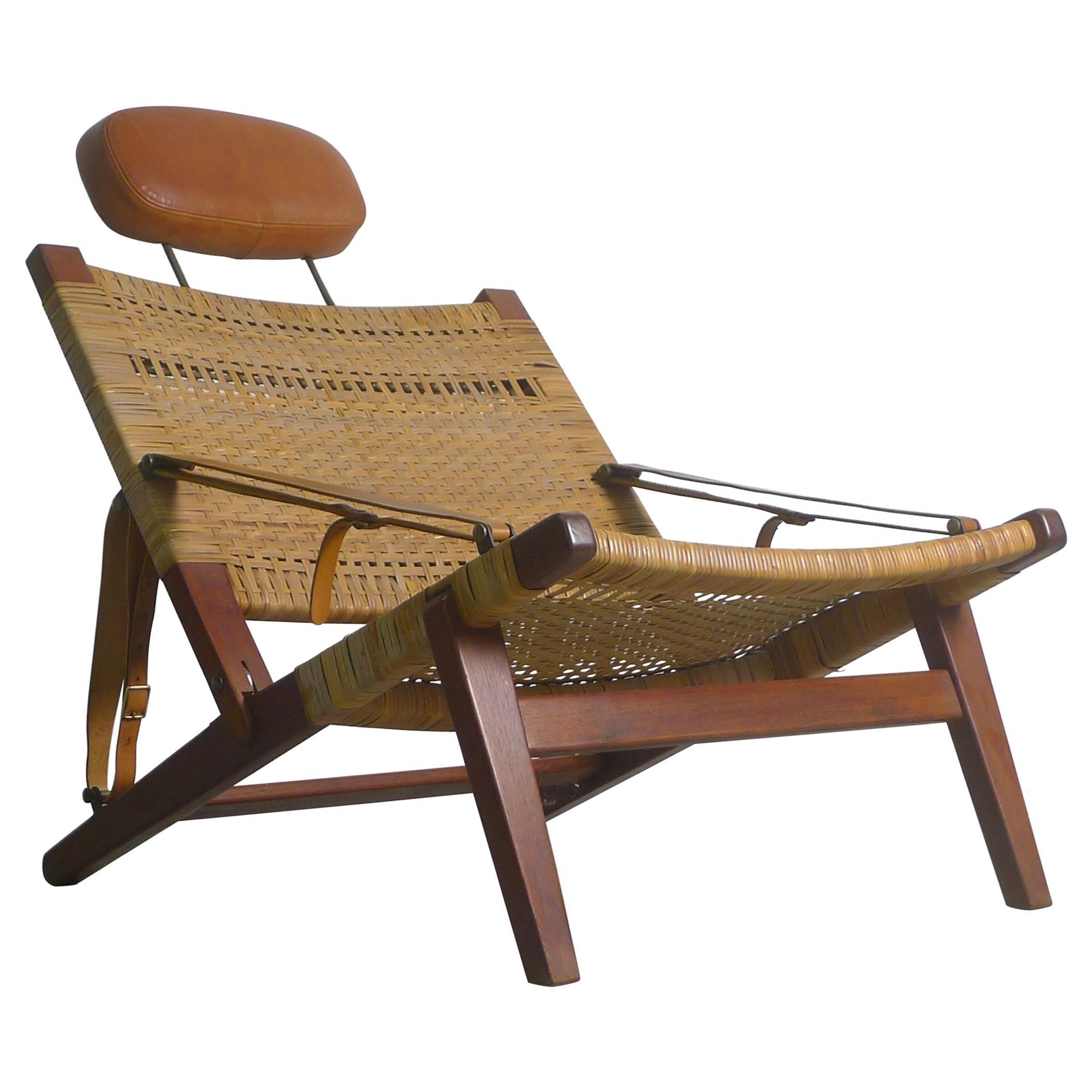 H Brockmann Petersen, Cabinetmade Hunting Chair circa 1956, Denmark