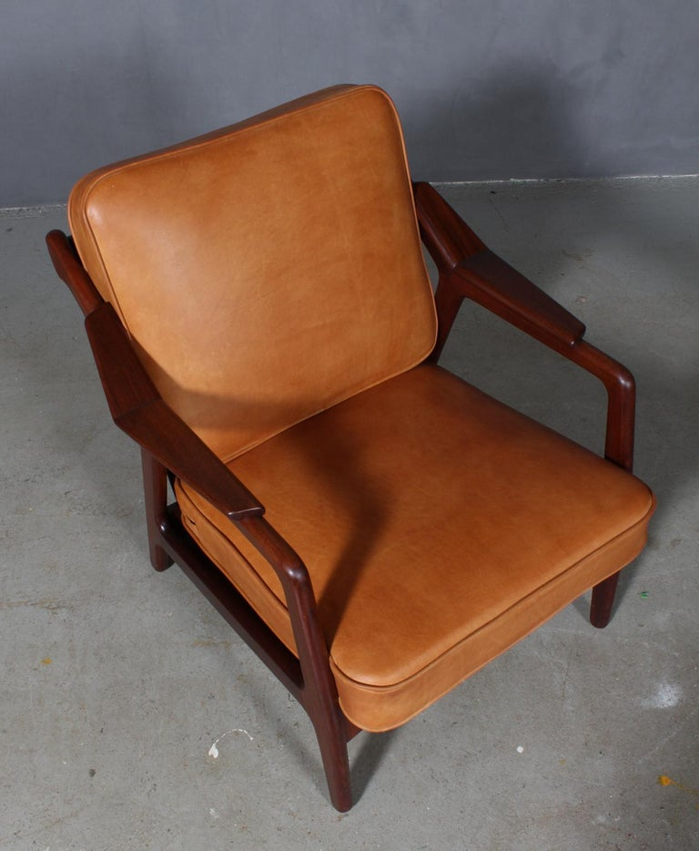 H. Brockmann Petersen lounge chair with frame of solid teak.