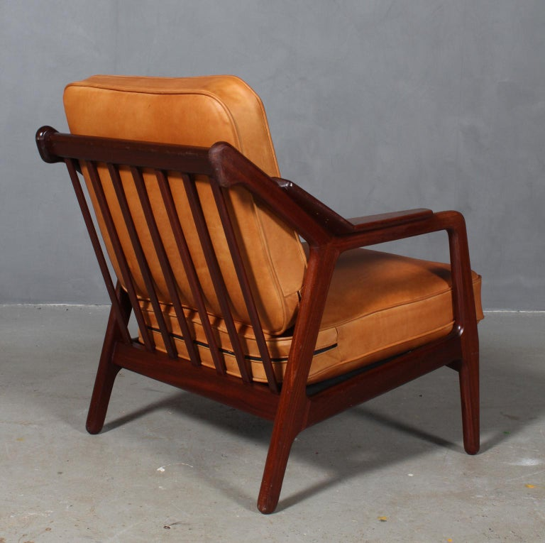 Leather H. Brockmann Petersen Lounge Chair For Sale