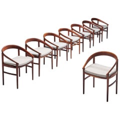 H. Brockmann Petersen Set of Eight '123' Dining Chairs