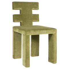 H Dining Chair in Maharam Velvet Upholstery by Estudio Persona