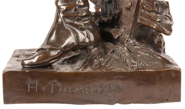 H. Dumaige Pair of 19th Century French Bronze Soldiers For Sale 10
