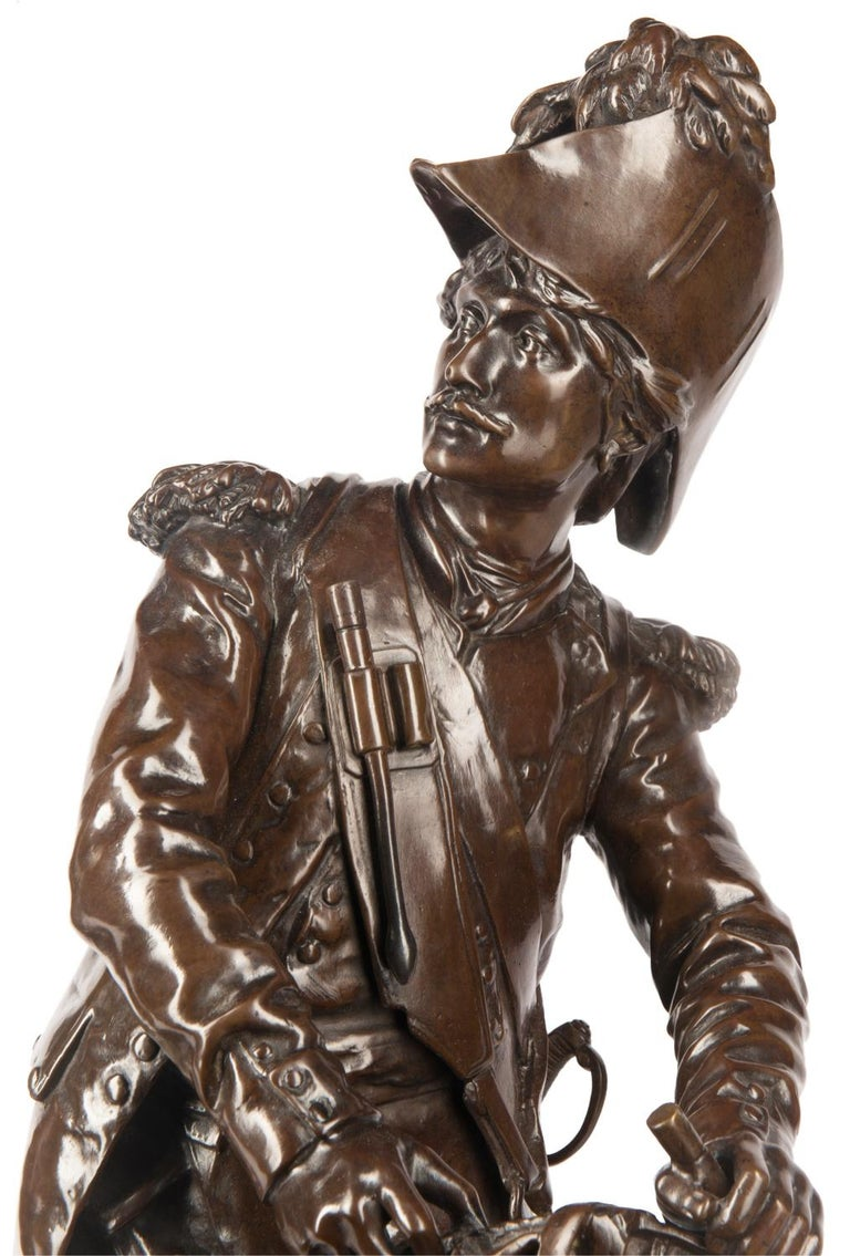 H. Dumaige Pair of 19th Century French Bronze Soldiers In Good Condition For Sale In Brighton, Sussex