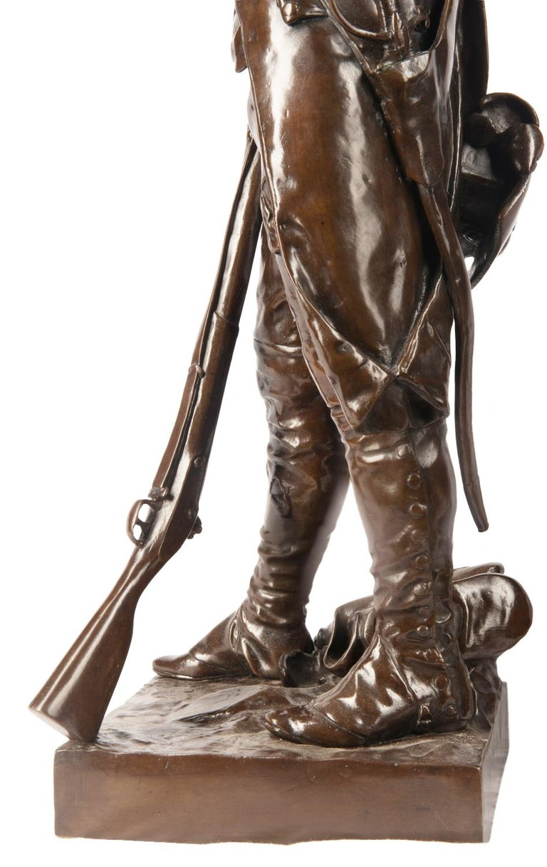 H. Dumaige Pair of 19th Century French Bronze Soldiers For Sale 3