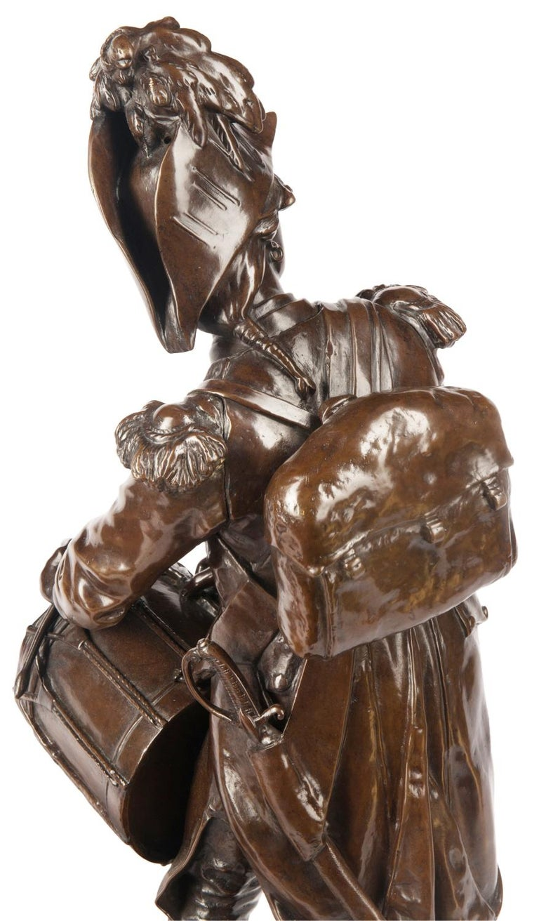 H. Dumaige Pair of 19th Century French Bronze Soldiers For Sale 6