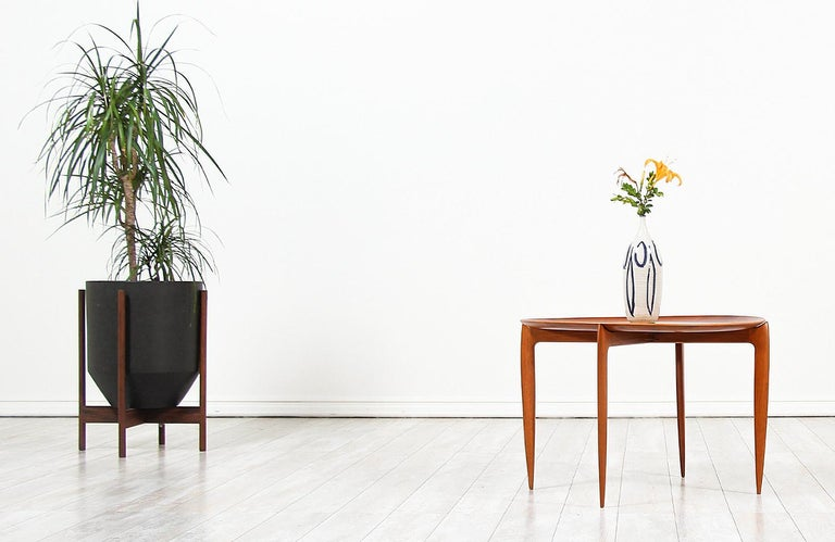 Mid-Century Modern H. Engholm & Svend Åge Willumsen Folding Tray Table for Fritz Hansen For Sale