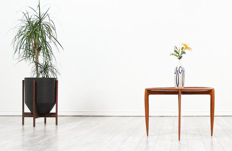 Danish H. Engholm & Svend Åge Willumsen Folding Tray Table for Fritz Hansen For Sale