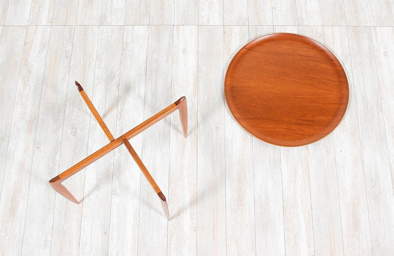 Mid-20th Century H. Engholm & Svend Åge Willumsen Folding Tray Table for Fritz Hansen For Sale