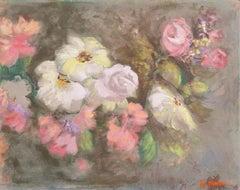 'Still Life of Flowers, Parchment and Rose', Huntington Beach Art League, Hawaii