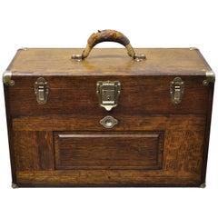 H. Gerstner & Sons Antique Oakwood Machinist 7 Drawer Tool Chest Box